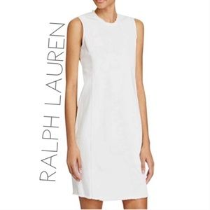 NWT Ralph Lauren frat white denim sheath dress 6